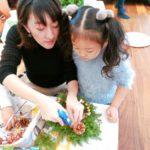 手作りのクリスマスリース教室♪自然を感じるモデルハウスも体感♡